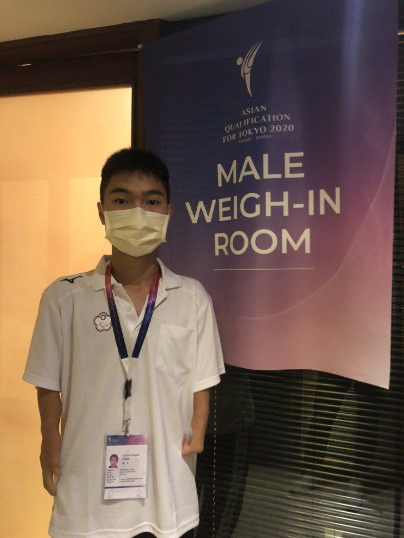 陳健強和我國第一張帕運跆拳道門票擦肩過。圖/中華跆拳道協會提供