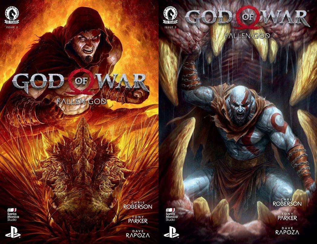 漫畫《戰神:Fallen God》第二集、第三集封面