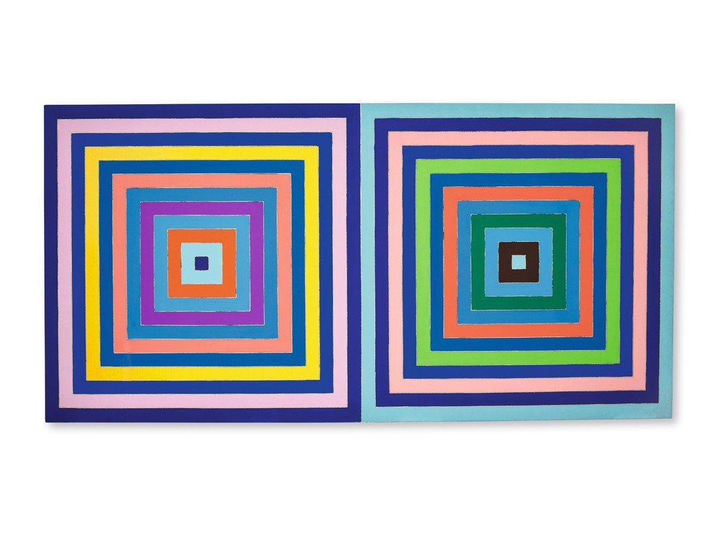 Frank Stella 1978年作「無題(雙同心正方形)」,壓克力畫布,20...