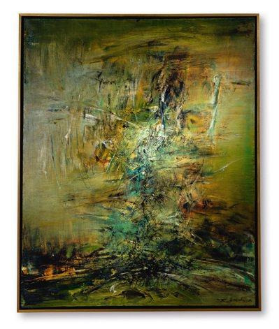 趙無極1963年作「14.05.63」,油畫畫布,100x80.5公分,估價3,...
