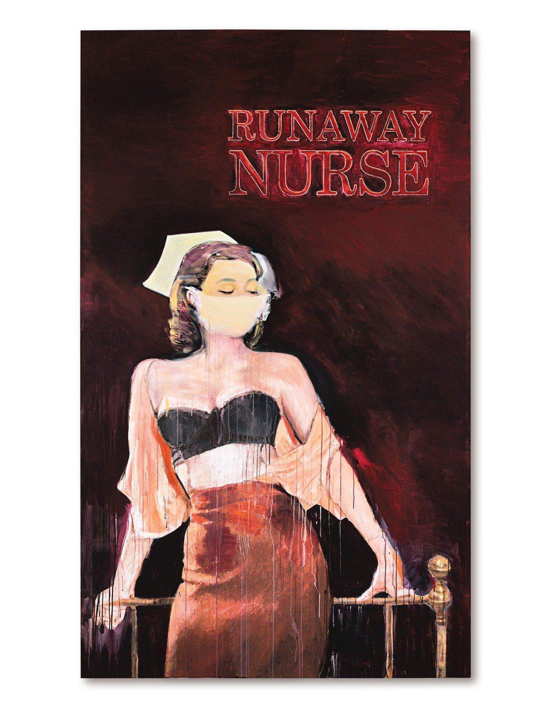 Richard Prince 2005至2006年作「逃脫的護士」,油墨及壓克力...