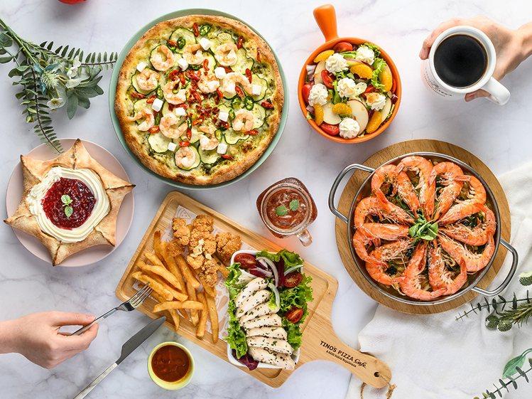 堤諾義大利比薩推出主餐升級、買3送1等不同優惠。圖/森邦集團提供