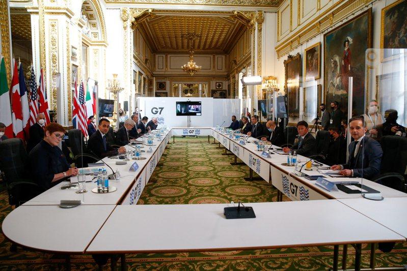 G7国家据传接近敲定一项跨国公司税收协议,图为5月初在伦敦举行的G7外长会议。(欧新社)(photo:UDN)