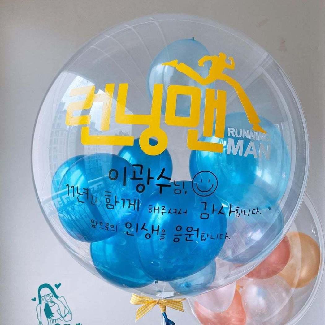 李光洙媽媽訂做的氣球。圖/摘自IG