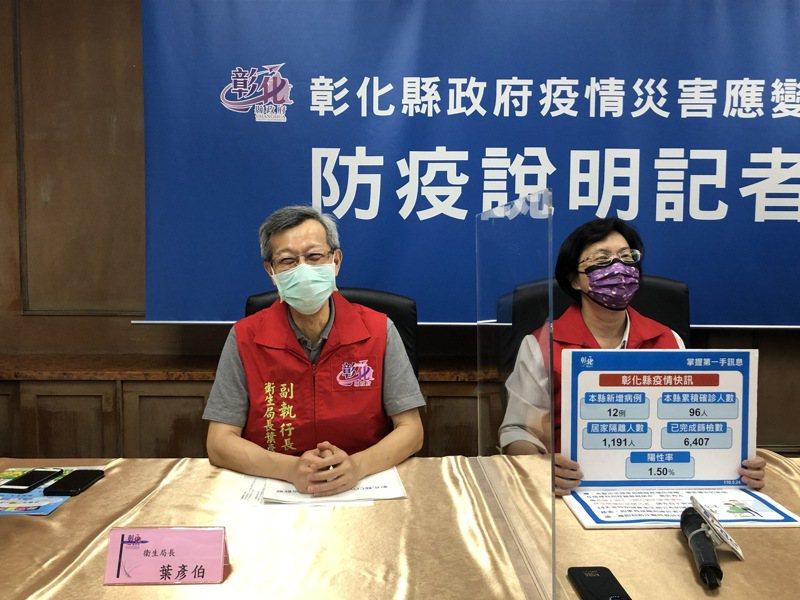 彰化縣府今天舉行疫情記者會,新增養生會館傳染鏈。記者林敬家/攝影