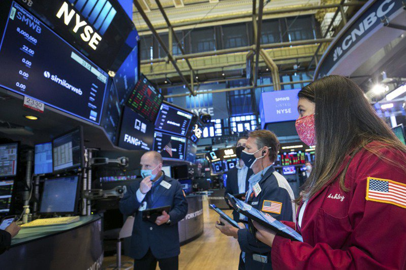 美股28日早盘上涨,道琼指数涨逾150点,个人消费支出(PCE)平减指数增幅优于预期,进一步增强市场对美国经济复甦的乐观信心。美联社(photo:UDN)