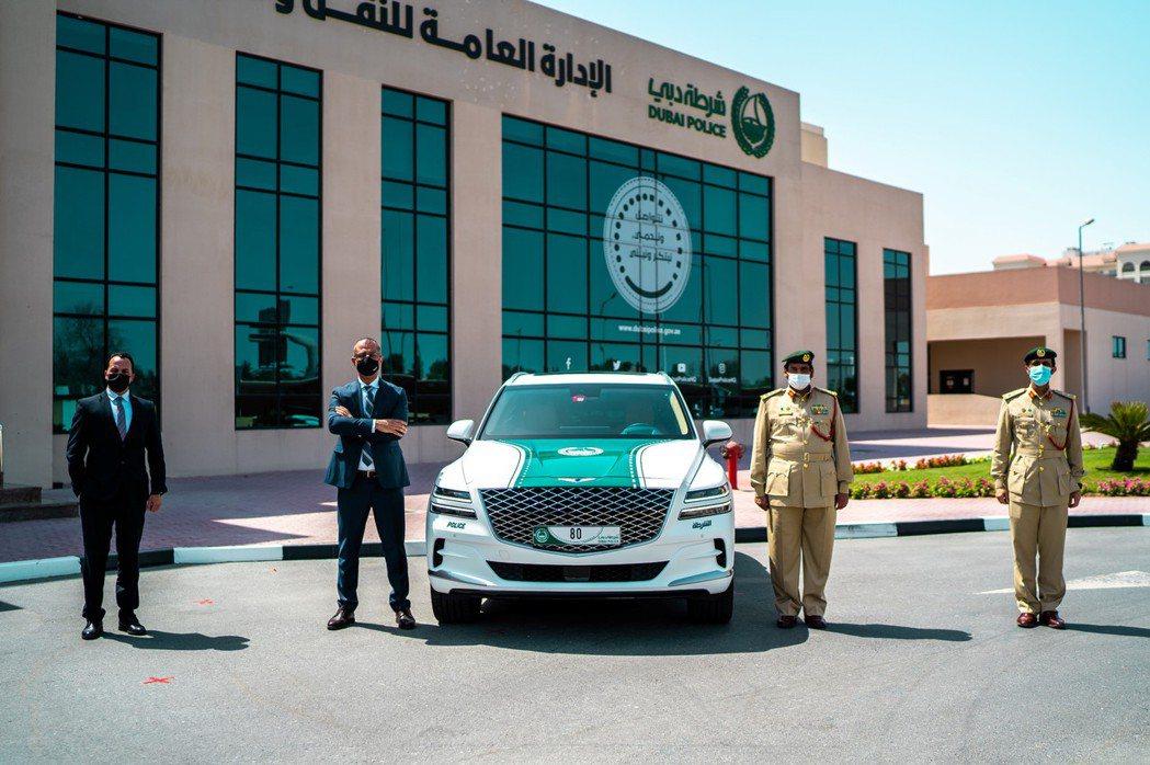 杜拜警車新軍是Genesis首款休旅GV80。 摘自Genesis