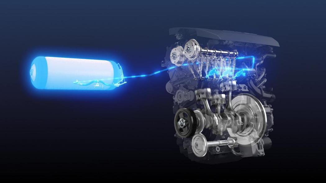 以GR Yaris上搭載的1.6升三缸渦輪增壓引擎為基礎打造的氫能源動力。 摘自...