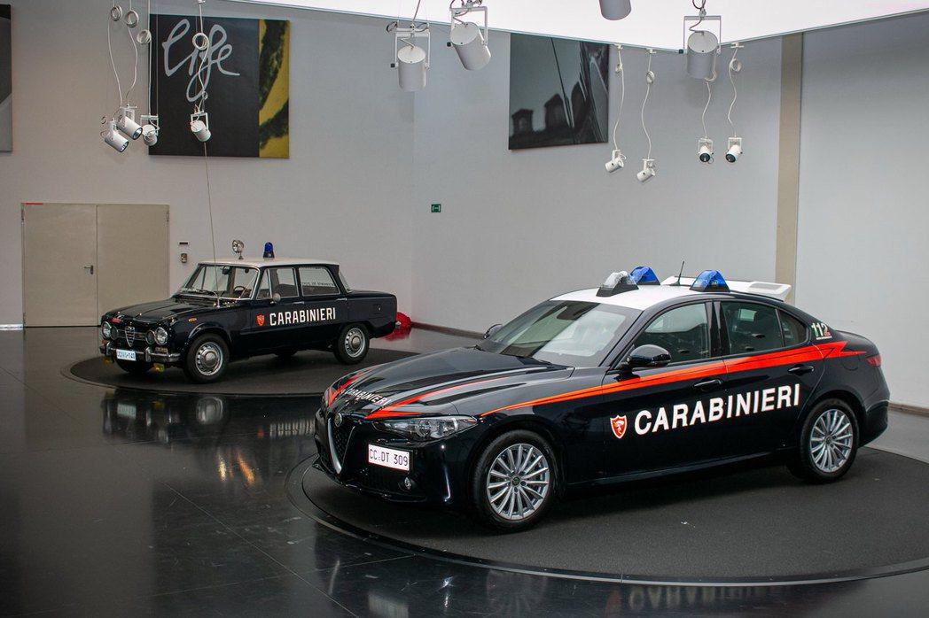 Alfa Romeo Giulia防彈警車。 摘自Alfa Romeo