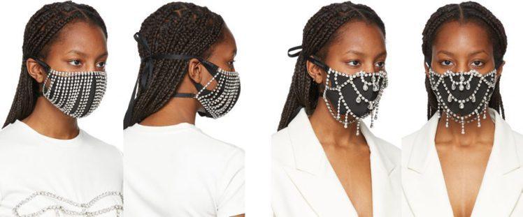 (左) Silver Crystal Fringe Mask 、 (右)Silv...