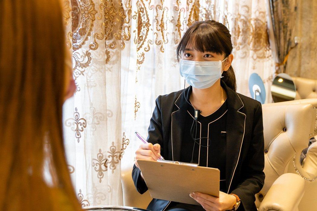 以一人一室候診間,以避免大廳群聚等候,美容師於固定美容室,減少群聚風險。聖宜/提...
