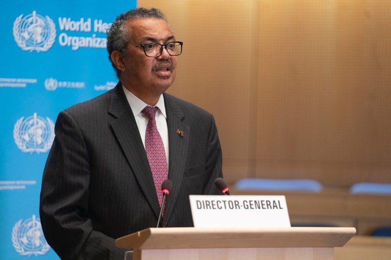 世衛組織總幹事譚德塞24日在世衛大會上呼籲,各成員國支持在9月底前讓全球至少10%人口接種新冠疫苗。(photo by twitter@WHO)