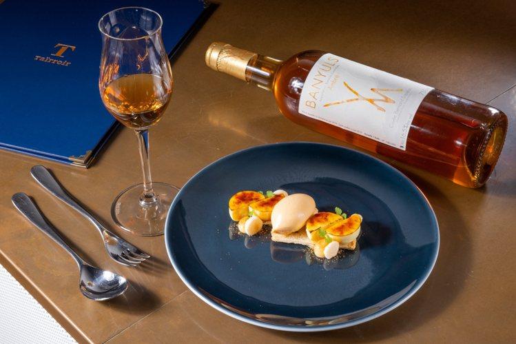 「瓜木香看」搭配法國瑪格妮耶酒莊班努斯產區的酒款。記者沈昱嘉/攝影。