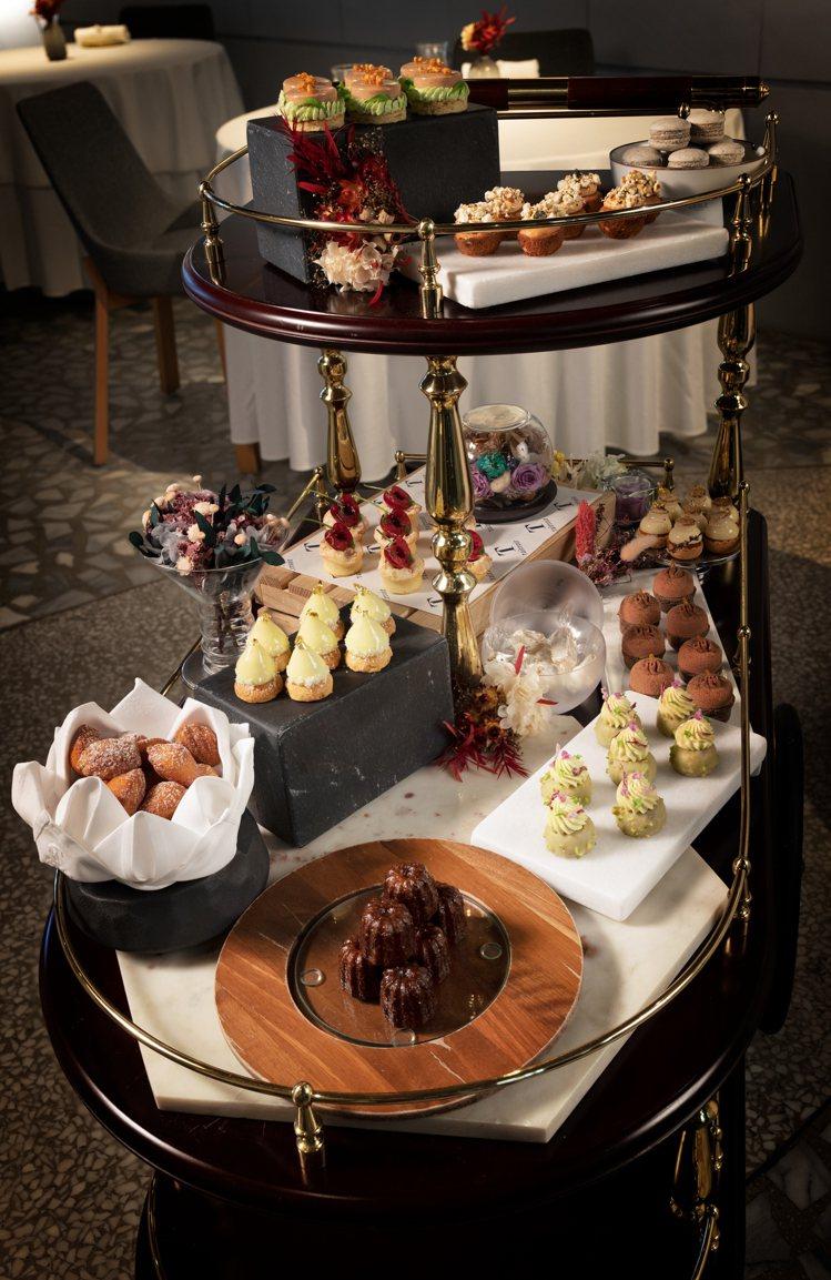 態芮是國內少數常規性地在晚餐提供甜點車的法式餐廳。圖/態芮提供。