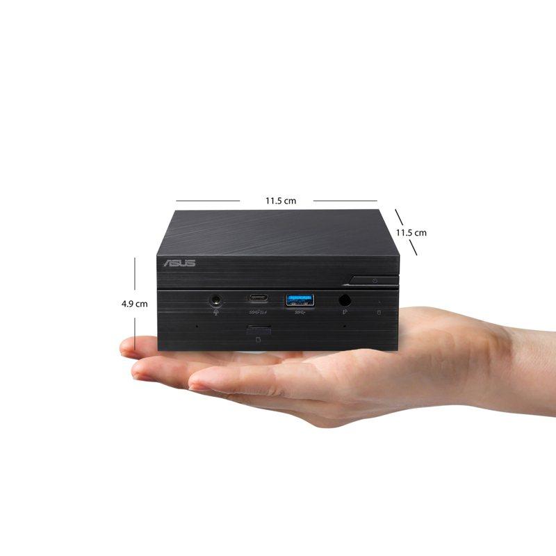 ASUS Mini PC PN51精巧高效,可支援8K UHD畫面或同時連接四台4K 60 Hz螢幕。圖/華碩提供