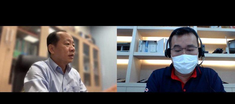 貿協辦理「新南向高效電子零組件線上拓銷團」,助我業者佈局東協國家,圖為新加坡買主洽談。圖/貿協提供