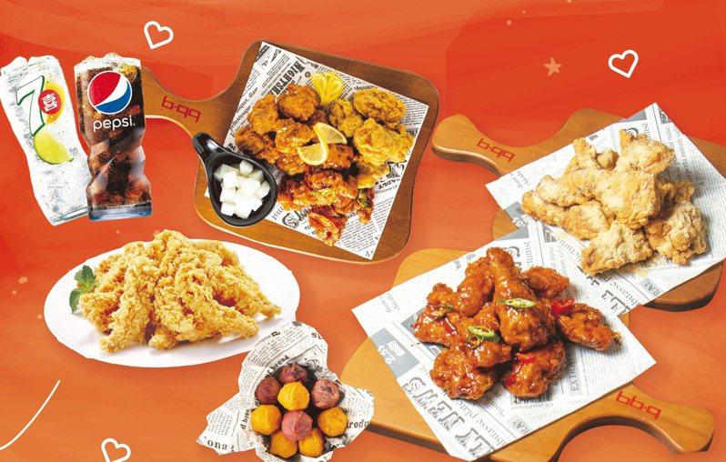 bb.q CHICKEN自即日起推出「台灣加油應援餐」,每套優惠價1,212元。圖/全家國際餐飲提供