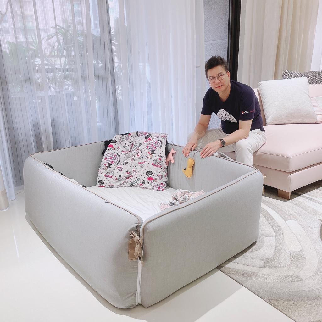 沈玉琳居家防疫期間當起奶爸。圖/TVBS提供