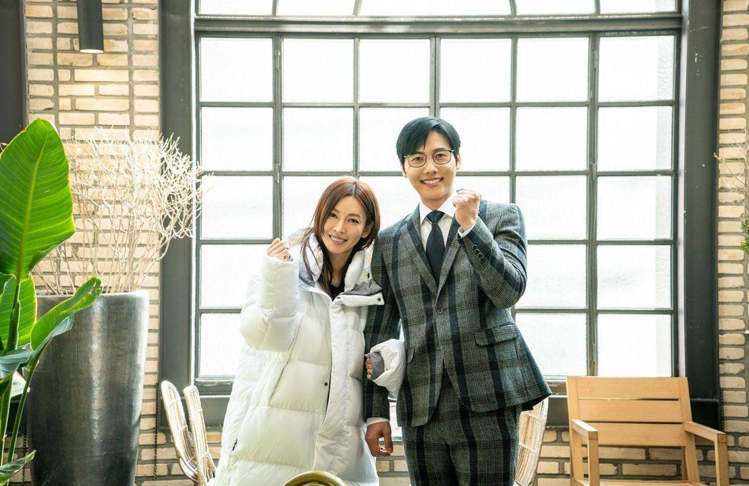 李尚禹(右)客串「世上最漂亮的女兒」力挺老婆金素妍。圖/中天娛樂台提供