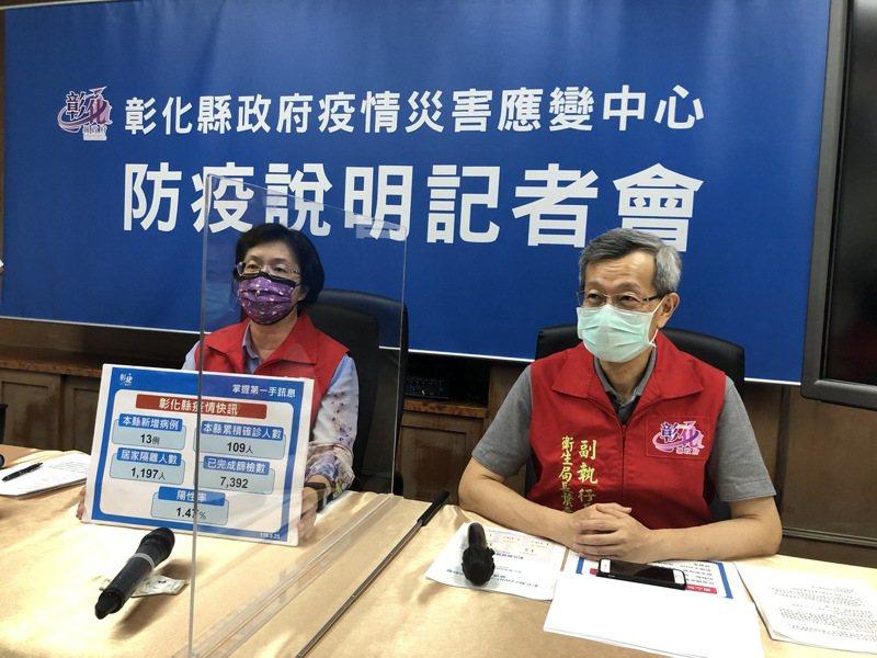 彰化縣府今天召開防疫記者會,說明新增個案。記者林敬家/攝影