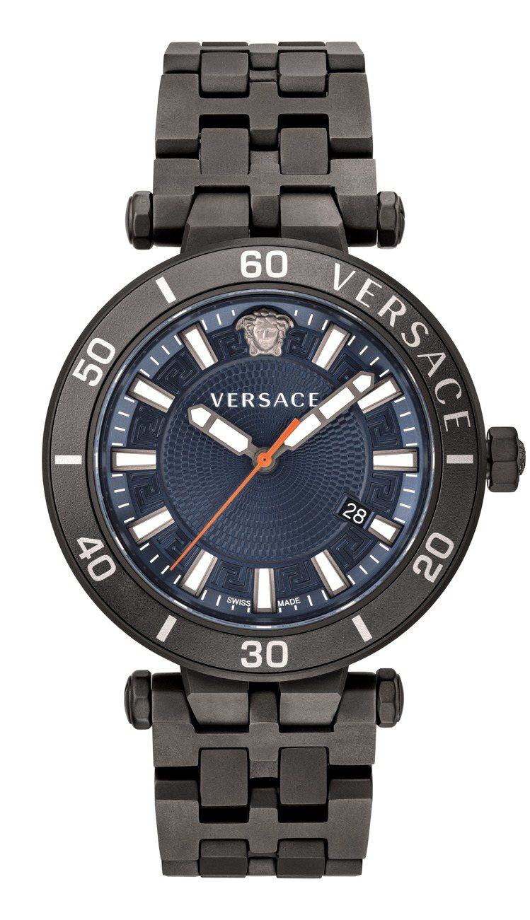 VERSACE Greca Sport系列腕表,鍍黑色不鏽鋼表殼、表鍊41,20...