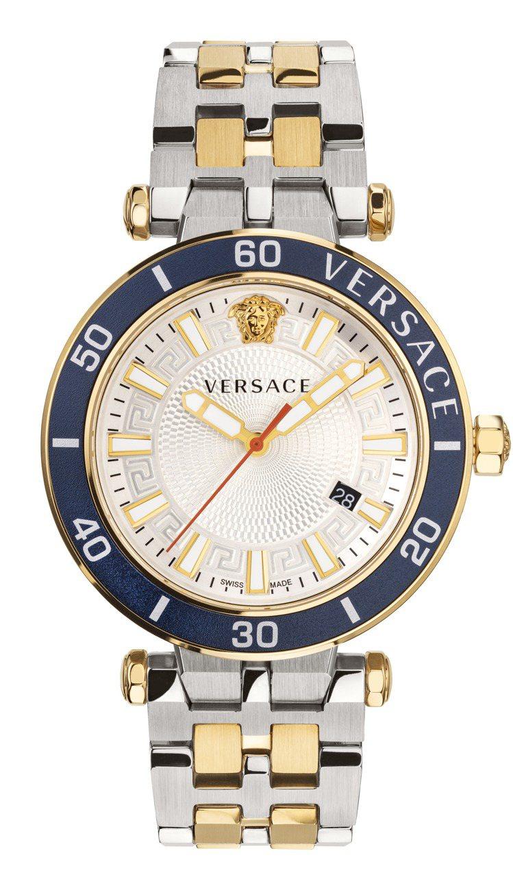 VERSACE Greca Sport系列腕表,不鏽鋼表殼、表鍊41,200元。...