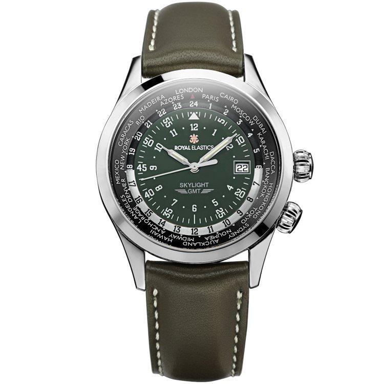 Royal Elastics SKYLIGHT系列腕表,不鏽鋼表殼9,900元。...