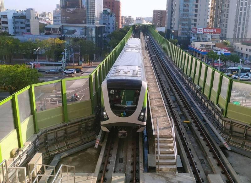 台中捷運綠線因為疫情二度調整班次。圖/台中捷運公司提供