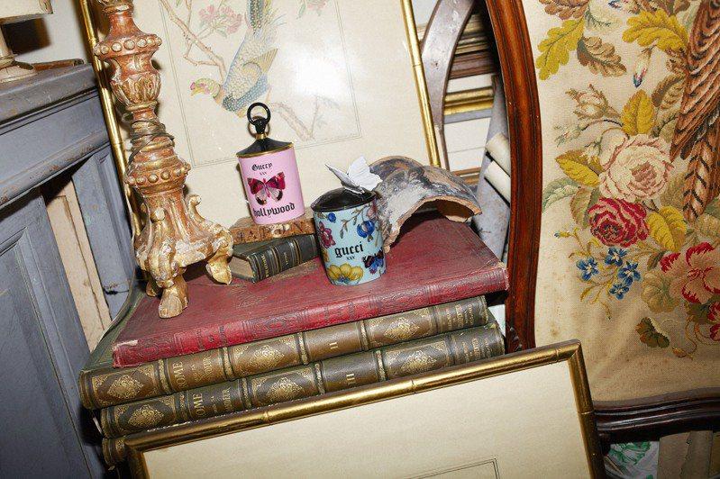 Gucci的居家系列中,與歐洲名瓷Richard Ginori合作的蠟燭自推出以來就是人氣商品。圖/Gucci提供