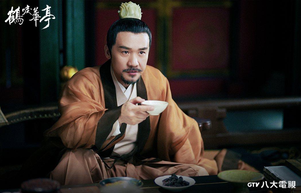 黃志忠在「鶴唳華亭」中飾演皇帝。圖/八大電視提供