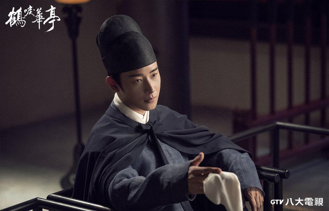 羅晉在權謀劇「鶴唳華亭」中飾演太子。圖/八大電視提供