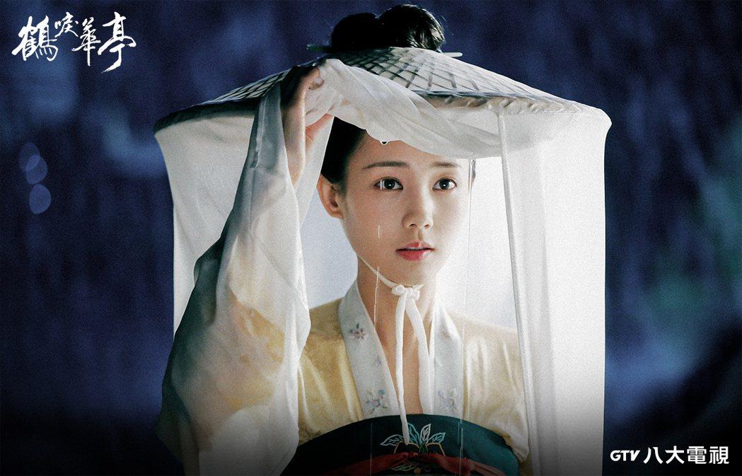 李一桐在「鶴唳華亭」中飾演御史中丞之女。圖/八大電視提供