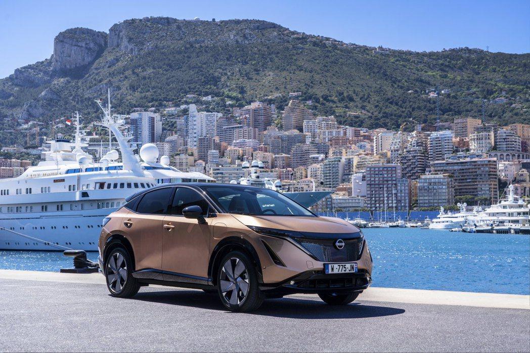 Nissan Ariya摩納哥首次公開亮相。 摘自Nissan