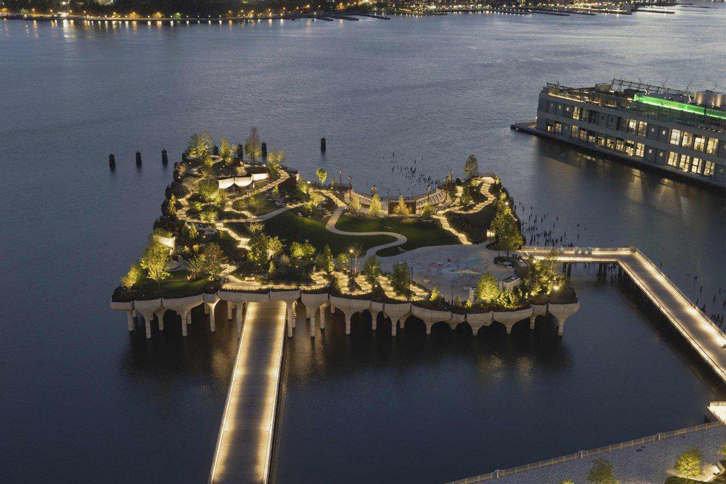 紐約的Little Island正式對外開放。 圖/Little Island提...