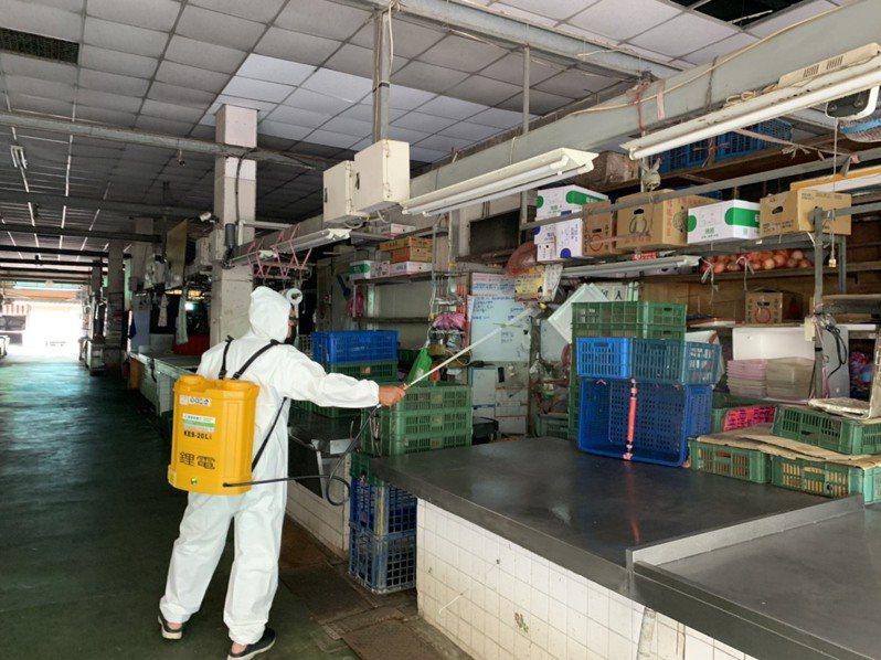 台南市6處市場今天起休市三天全面消毒。圖/經濟發展局提供