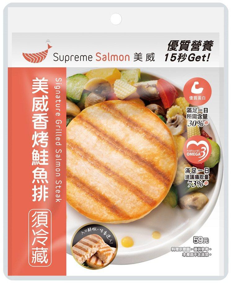 「美威香烤鮭魚排」,售價59元。圖/7-ELEVEN提供
