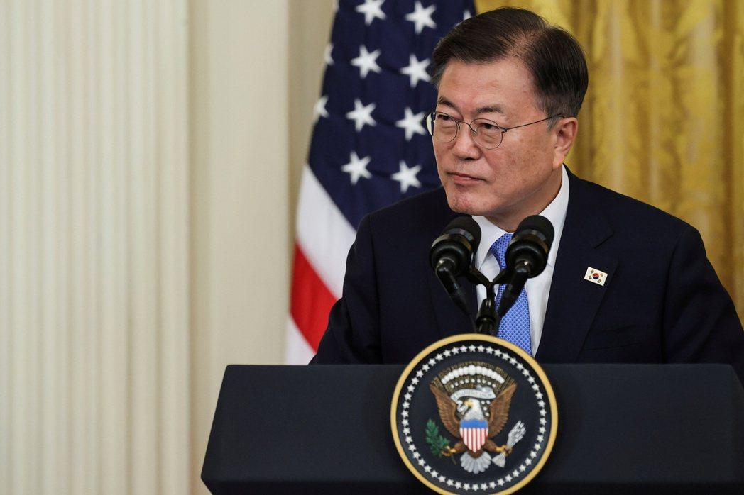 南韓總統文在寅26日稱Quad有其重要性。路透