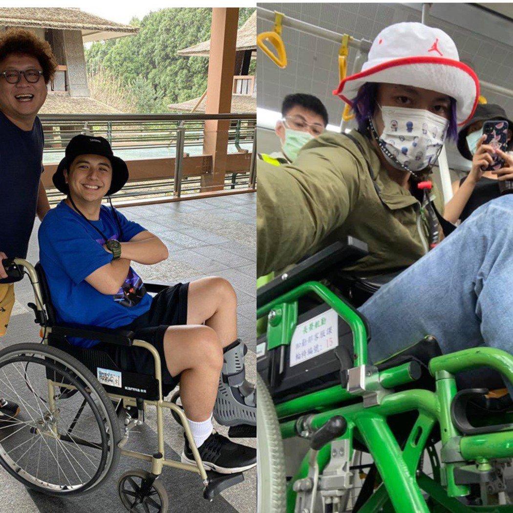 黃鐙輝(右)和曾子余這對師徒最近都受傷。(左圖/TVBS提供,右圖/黃鐙輝提供,