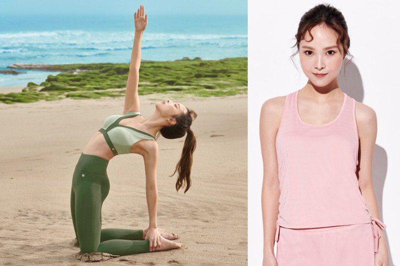 時尚運動品牌MOLLIFIX特別為女性推薦經典系列服飾,還包括瑜珈墊與彈力帶等專業配件,增加在家的運動儀式感。圖/MOLLIFIX提供