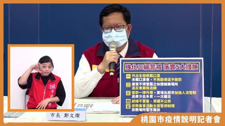 桃園分得1.8萬劑疫苗,市長鄭文燦表示依中央政策以醫護及第一線的警察消防人員優先...
