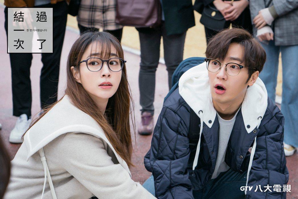李珉廷(左)、李相燁在「結過一次了」搭檔,登上螢幕最佳CP。圖/八大電視提供