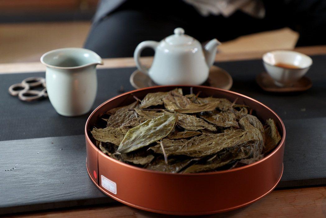 林憲能認為自己做的茶葉走水乾淨,味道純淨。攝影/余承翰