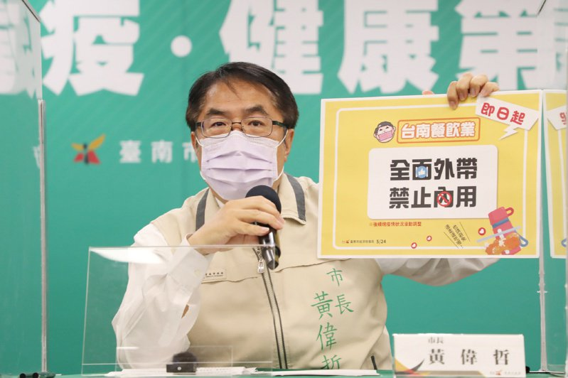 台南市長黃偉哲。(台南市政府提供)中央社