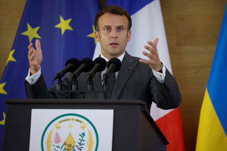 法國總統馬克宏。 法新社
