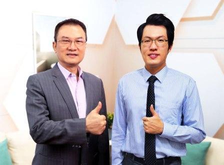 理財周刊發行人洪寶山(左)、蔡司(右)