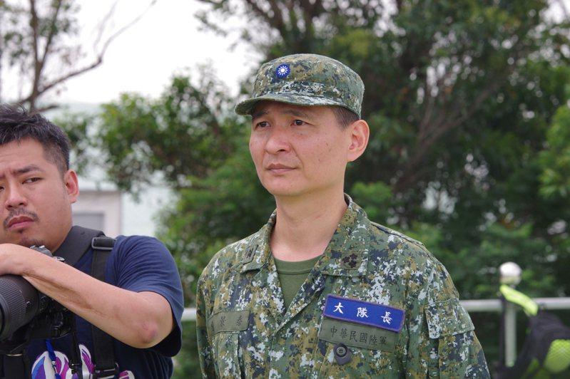 張景泰上校。記者程嘉文/攝影