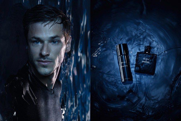 香奈兒藍色男性系列,推出清新香氛噴霧、極致風尚刮鬍組。圖/香奈兒提供