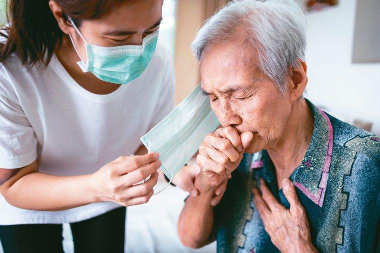 新冠肺炎確診長者出現呼吸困難、胸部持續疼痛或壓迫感、開始神智不清、無法醒來或保持...