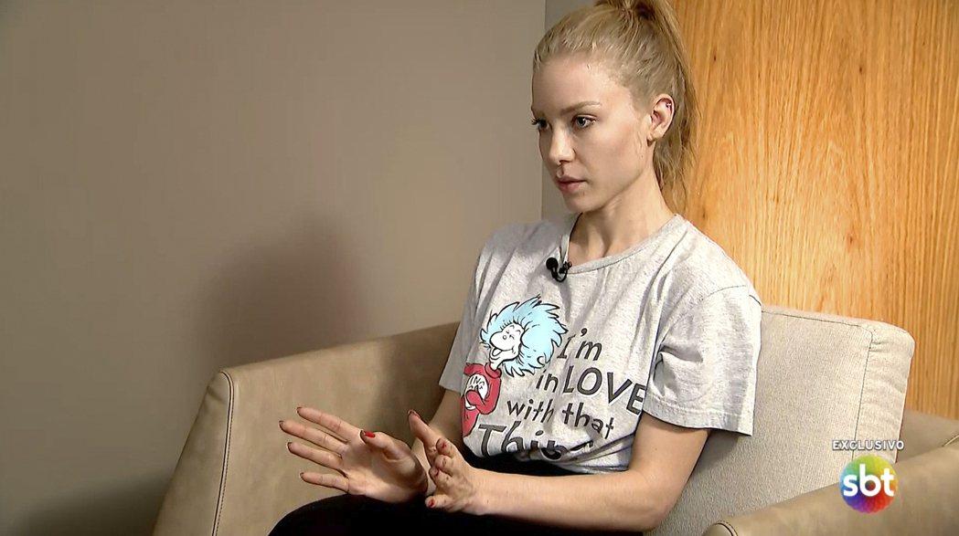 取自巴西電視台SBT的新聞片段,當時26歲的Najila Trindade指控內...
