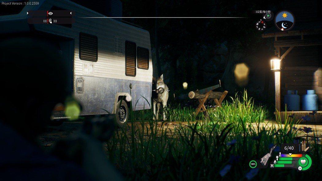 荒野不全是友善生物,一不小心也會出現在車後準備偷襲的哈士奇野生狼